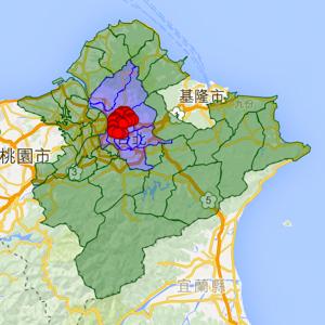 雙北市行政區域範圍座標 - OA Wu's Blog